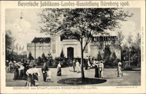 Ak Nürnberg in Bayern, Bayer. Jubiläums Landesausstellung, Gebäude der staatlichen Forstausstellung
