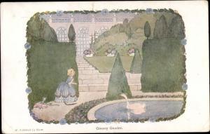 Künstler Ak Willebeek Le Mair, H., Goosey Gander, Small Rhymes for small people