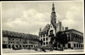 Ak Javorník Jauernig Jauer Region Olmütz, Ring, Rathaus, Markt, Stadttheater