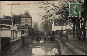 Ak Coulommiers Seine et Marne, Le Pont de la Ville