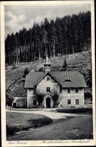 Ak Duszniki Zdrój Bad Reinerz Schlesien, Mendelsohnhaus im Schmelzpark
