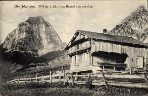 Ak Brunni Schwyz Schweiz, Die Mythen, Bergpartie