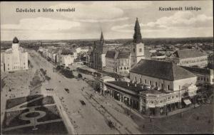 Ak Kecskemét Ketschkemet Ungarn, Üdvözlet a hirös városból