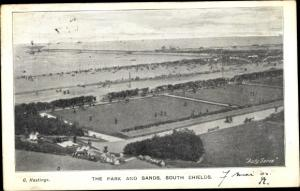 Ak South Shields South Tyneside North East England, The Park and Sands