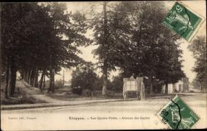 Ak Trappes Yvelines, Le Quatre Paves, Avenue de Sapins