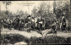 Ak Saint Hubert Yvelines, La Chasse, La mort du cerf