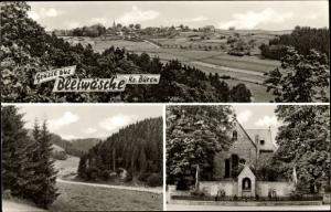 Ak Bleiwäsche Bad Wünnenberg in NRW, Gesamtansicht, Landschaft, Kirche