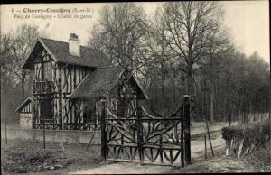 Ak Chevry Cossigny Seine et Marne, Parc, Chalet