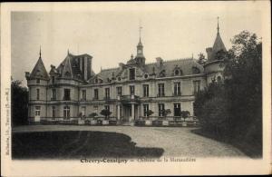 Ak Chevry Cossigny Seine et Marne, Le Chateau de la Marsaudiere
