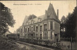Ak Chevry Cossigny Seine et Marne, Le Chateau