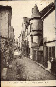 Ak Saint Aignan Loir et Cher, Vieilles Maisons