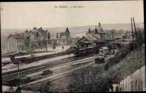 Ak Triel sur Seine Yvelines, La Gare