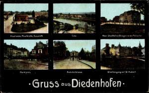 Ak Thionville Diedenhofen Lothringen Moselle, Hauptwache, Metzer Tor, Marktplatz, Bahnhofstraße