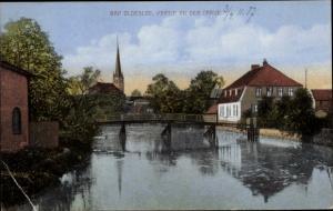 Ak Bad Oldesloe in Schleswig Holstein, Partie an der Trave