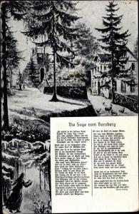Ak Dresden Schönfeld Weißig Borsberg, Sage vom Borsberg