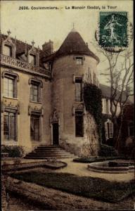 Ak Coulommiers Seine et Marne, Le Manoir feodal, La Tour