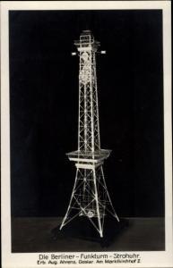 Ak Berliner Funkturm Strohuhr, Erbauer Aug. Ahrens, Goslar