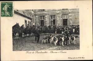 Ak Foret de Rambouillet Yvelines, Chasses a Courre