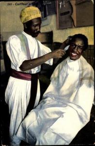 Ak Coiffeur arabe, arabischer Friseur, Maghreb