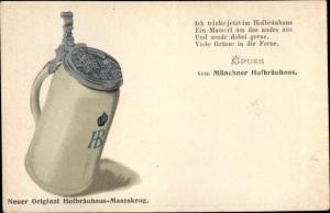 Ak München Bayern, Hofbräuhaus Maaßkrug, Bier, Reklame