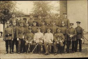 Foto Ak Deutsche Soldaten im Kaiserreich, Gruppenbild