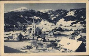 Ak Riezlern Mittelberg Vorarlberg, Panorama vom Ort