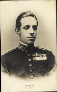 Ak König Alfons XIII von Spanien, Portrait, GG Co 2423