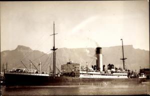 Foto Ak Steamer Ulysses, Dampfschiff, Blue Funnel Line