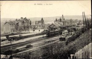 Ak Triel sur Seine Yvelines, La Gare, chemin de fer