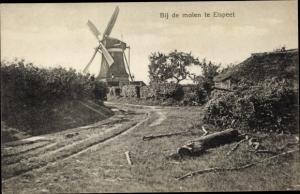Ak Elspeet Gelderland, Bij de Molen, Windmühle