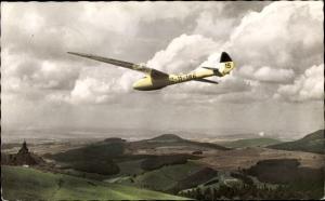 Ak Wasserkuppe, Segelflugzeug Peters in Condor II a, D 11 186