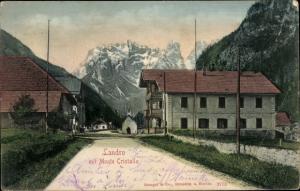 Ak Landro Höhlenstein Südtirol, Ortspartie mit Monte Cristallo