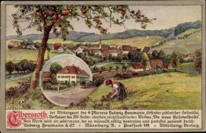 Ak Elbersroth Herrieden an der Wieseth, Elbersroth der Wirkungsort des Pfarrers Ludwig Heumann