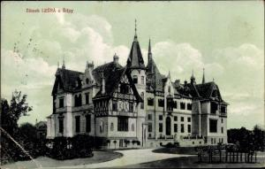 Ak Zlín Schloss Zlínský kraj Reg Mähren, Schloss Lesná, Burg, Schloss Fürstenstein, Zamek Książ