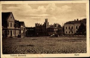 Ak Tukums Tuckum Lettland, Marktplatz, Häuser
