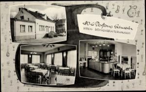 Ak Schwerin Brandenburg, HOG Dorfkrug Schwerin, Inneres