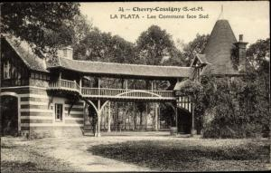 Ak Chevry Cossigny Seine et Marne, La Plata, Les Communs face Sud