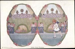 Künstler Ak Willebeek Le Mair, H., Little Polly Flinders, Mädchen, Puppen