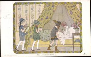Künstler Ak Willebeek Le Mair, H., The Invalid's Birthday, The Children's Corner
