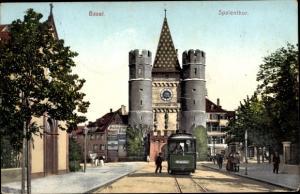 Ak Bâle Basel Stadt Schweiz, Spalentor