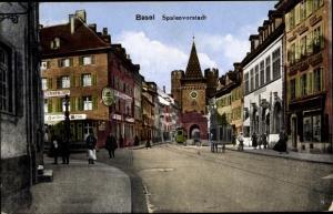 Ak Bâle Basel Stadt Schweiz, Spalenvorstadt