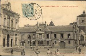 Ak Coulommiers Seine et Marne, Hotel de Ville et Poste