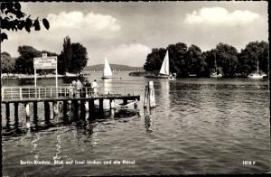 Ak Berlin Spandau Kladow, Blick auf Insel Imchen und die Havel