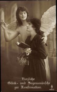 Ak Glückwunsch Konfirmation, Engel, Mädchen, PFB 4886 3