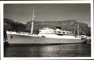 Foto Ak Steamer Durban Castle, Dampfschiff, Union Castle Line