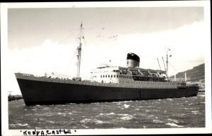 Foto Ak Steamer Kenya Castle, Dampfschiff, Union Castle Line