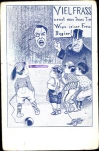 Künstler Ak Südafrika, Anti Großbritannien Propaganda, Chamberlain, Paul Kruger