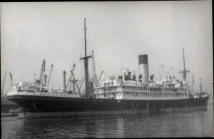 Foto Ak Steamer Sarpedon, Dampfschiff, Blue Funnel Line