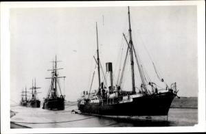 Foto Ak Steamer, Dampfschiff, Blue Funnel Line