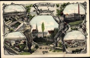 Ak Olbersdorf in Sachsen, Heimatfest 1908, Bergmann, Elektrizitätswerk, Wagner und Co